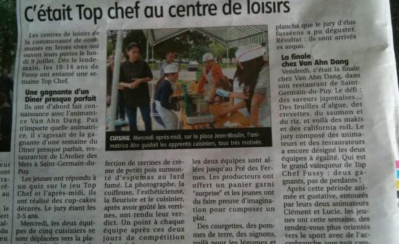 Top Chef au Centre de Loisirs – Le Berry Républicain